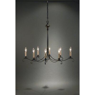 Northeast Lantern Chandelier 8 Light Candelabra Sockets Curved Arms Hanging Chandelier