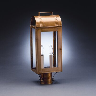 Northeast Lantern Livery 2 Light Post Lantern