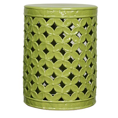 Lattice Leaves Garden Stool by New Pacific Direct