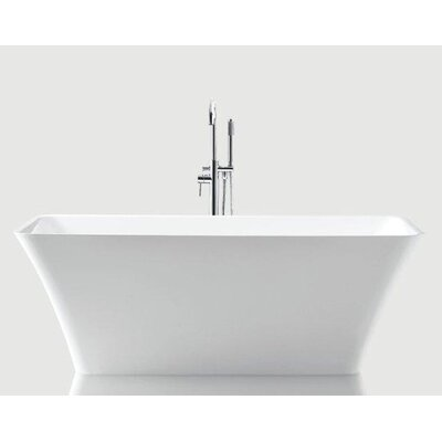 "Arhus 67"" x 30"" Rectangle Acrylic Freestanding Bathtub Product Photo"