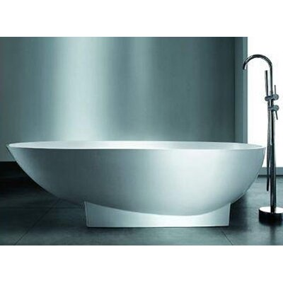 "Valira 72"" x 37"" Artificial Stone Freestanding Bathtub Product Photo"