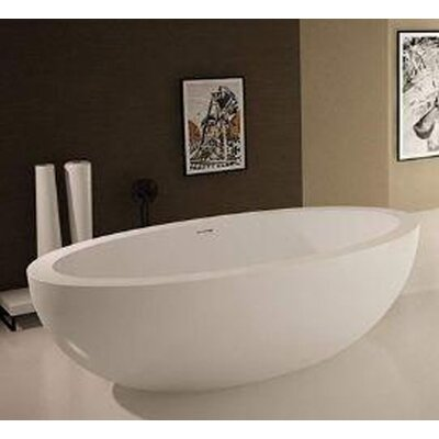 "Sovereign 75"" x 42"" Artificial Stone Freestanding Bathtub Product Photo"