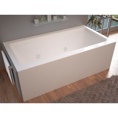 """Castle 60"""" x 32"""" Front Skirted Whirlpool Bathtub with Drain Product Photo"""