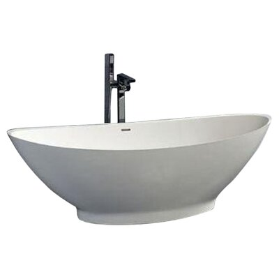 "Clare 73"" x 34"" Artificial Stone Freestanding Bathtub Product Photo"