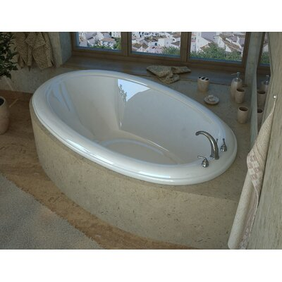 "Martinique 60"" x 36"" Oval Soaking Bathtub with Reversible Drain Product Photo"