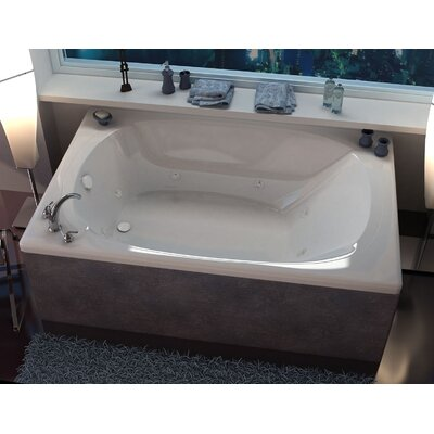 "St. Lucia 78"" x 48"" Rectangular Whirlpool Jetted Bathtub with Center Drain Product Photo"