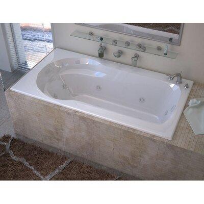 "Grenada 60"" x 32"" Rectangular Whirlpool Jetted Bathtub with Drain Product Photo"