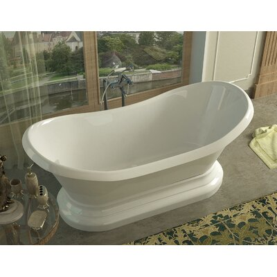 """Grace 71"""" x 34"""" Oval Freestanding Soaker Bathtub with Center Drain Product Photo"""