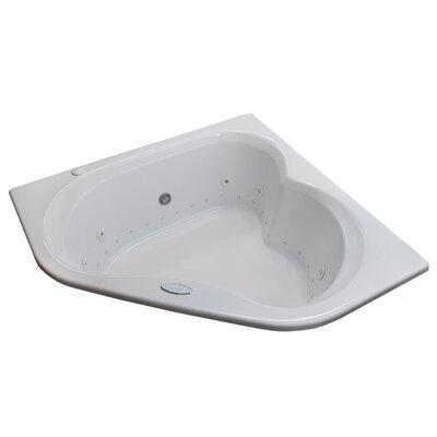 "Spa Escapes Tobago Dream Suite 60"" x 60"" Corner Air & Whirlpool Jetted Bathtub"