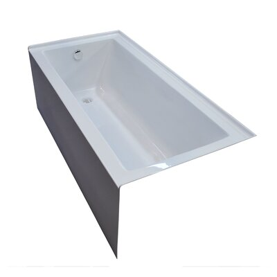 """Castle 60"""" x 30"""" Front Skirted Bathtub with Drain Product Photo"""