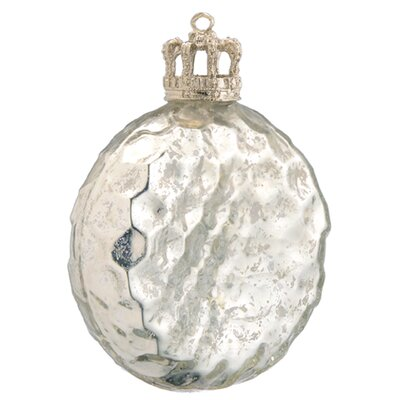 BIDKhome Glass Christmas Disk with Crown Cap