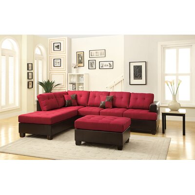 Bobkona Winden Reversible Chaise Sectional by Poundex