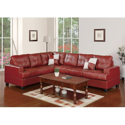 Bobkona Karen Reversible Chaise Sectional by Poundex
