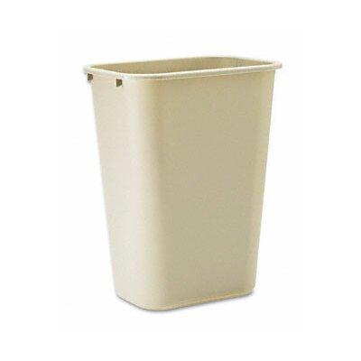Rubbermaid Commercial Products 10.25-Gal Deskside Plastic Rectangular Wastebasket