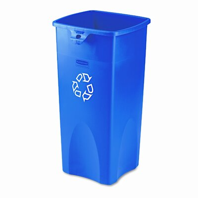 Rubbermaid Commercial Products Untouchable® Square 23-Gal Curbside Recycling Bin