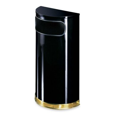 Rubbermaid Commercial Products 9-Gal Half Round Receptacle