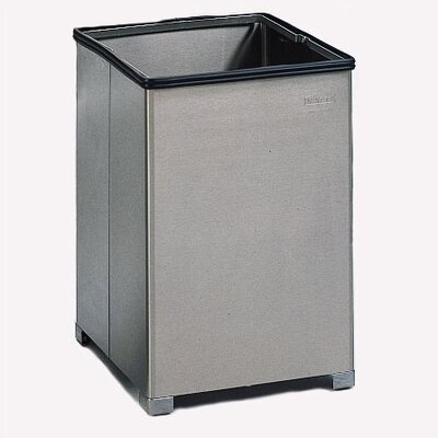 Rubbermaid Commercial Products 14-Gal Small Open Top Stainless Steel Receptacle