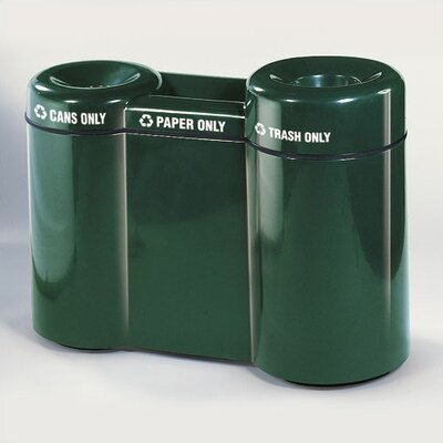 Rubbermaid Commercial Products Barclay Large 46 Gallon Multi Compartment Recycling Bin
