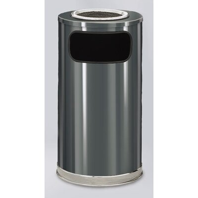 Rubbermaid Commercial Products 12-Gal European Designer Sand Top Ash/Trash Receptacle