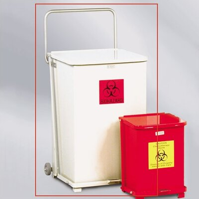 Rubbermaid Commercial Products 40-Gal The Defenders Square Step Can