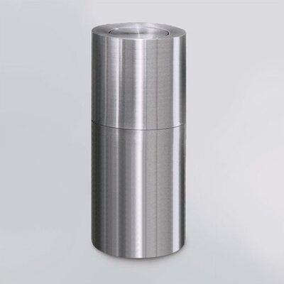 Rubbermaid Commercial Products Aluminum Designer Flip Top Waste Receptacle