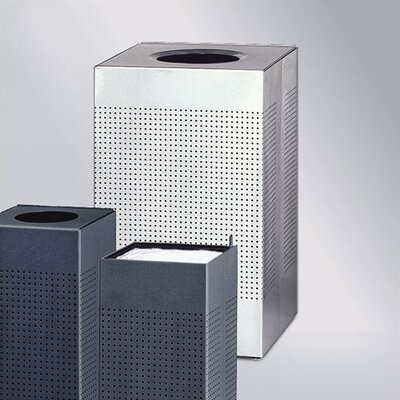 Rubbermaid Commercial Products Designer Silhouettes Large Waste Receptacle