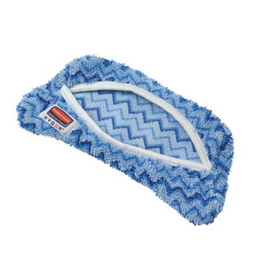 Rubbermaid Commercial Products Hygen Flexi Frame Scrubber Microfiber Mop Covers in Blue