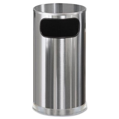 Rubbermaid Commercial Products 12-Gal Round European Metallic Side-Opening Receptacle