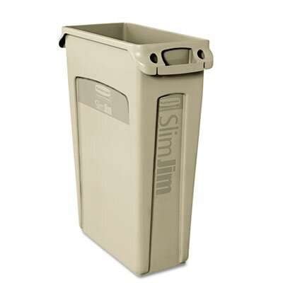 Rubbermaid Commercial Products Slim Jim 23-Gal Rectangular Receptacle