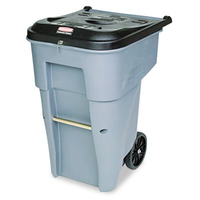 Rubbermaid Commercial Products 65-Gal Roll-Out Heavy-Duty Waste Square Container