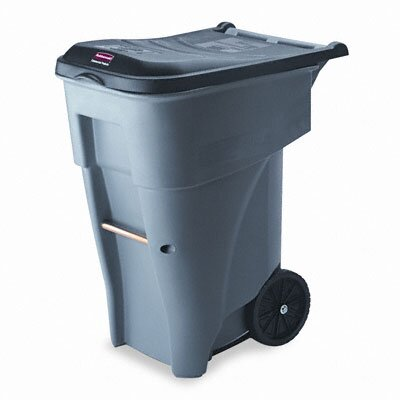 Rubbermaid Commercial Products Brute 65-Gal Rollout Heavy-Duty Waste Square Container
