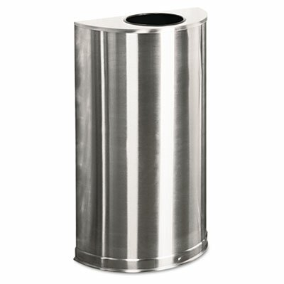 Rubbermaid Commercial Products 12-Gal Designer Line Open Top Half-Round Receptacle