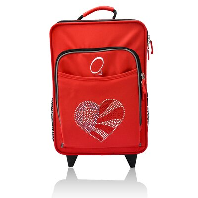 Kids Flag Heart Suitcase by Obersee