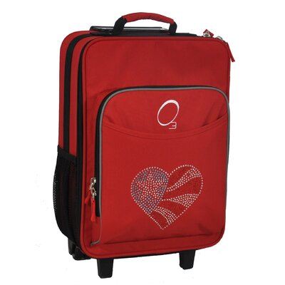 Obersee Kids Flag Heart Suitcase
