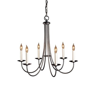 Simple Sweep 6 Light Chandelier by Hubbardton Forge