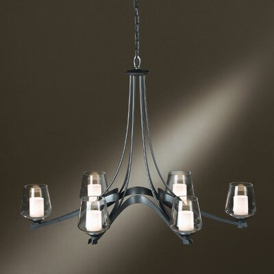 Ribbon 6 Light Chandelier by Hubbardton Forge