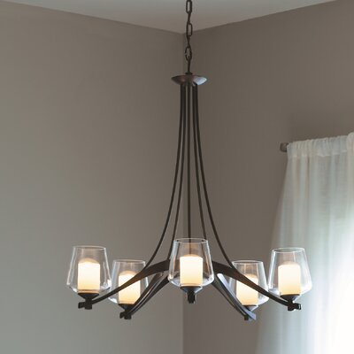 5 Light Ribbon Chandelier with 5 Arms by Hubbardton Forge
