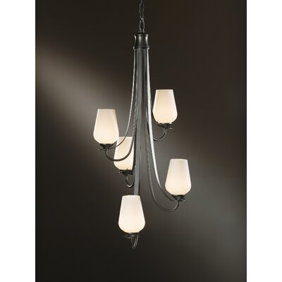 Flora 5 Light Vertical Chandelier by Hubbardton Forge