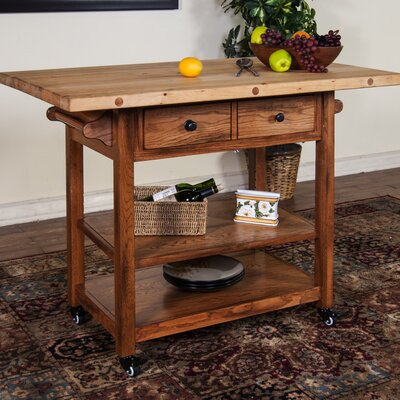 Sunny Designs Kitchen Island with Butcher Block Top & Reviews Wayfair