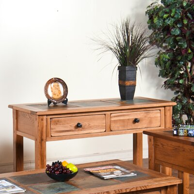 Sunny Designs Sedona Console Table with Slate Top