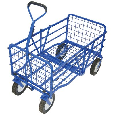 Outdoor Folding Utility Cart in Blue by On The Edge Marketing