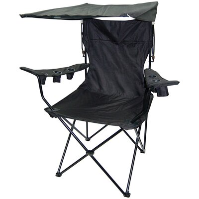 On The Edge Marketing Outdoor King Pin Folding Chair in Black