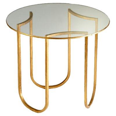 Vincente Side Table in Gold Leaf by Cyan Design