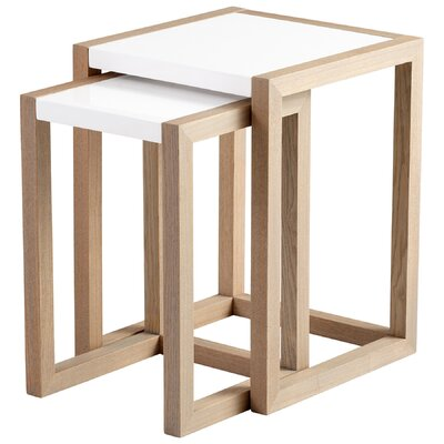 Becket 2 Piece Nesting Table by Cyan Design