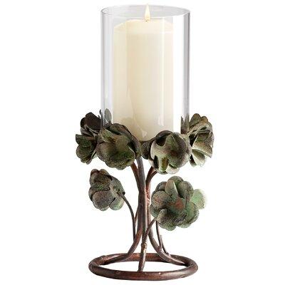Cyan Design Leigh Rose Iron and Glass Candleholder