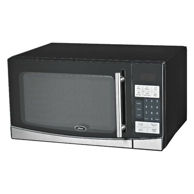 1.1 Cu. Ft. 1000W Countertop Microwave in Black by Oster