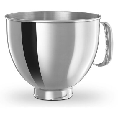 5 Qt. Polished Stainless Steel Bowl with Handle for KitchenAid Tilt-Head Stand Mixers by ...