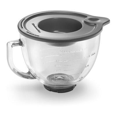 5 Qt. Glass Bowl with Measurement Markings, Pour Spout & Lid by KitchenAid