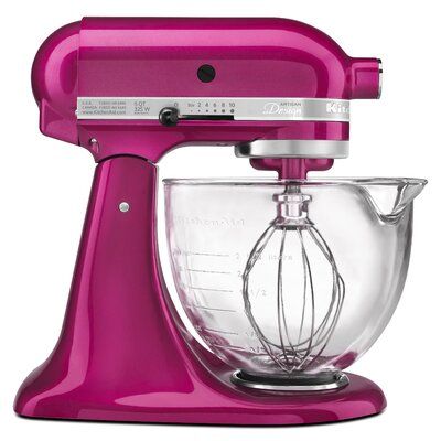 Artisan Design Series 5 Qt. Stand Mixer with Glass Bowl by KitchenAid