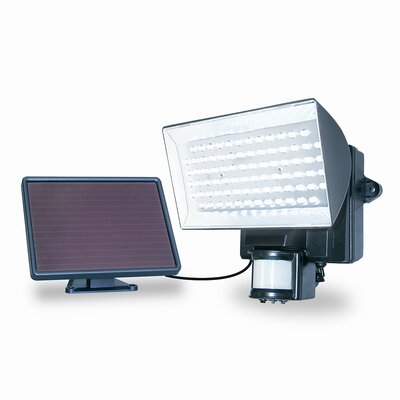 Maxsa Innovations Solar Powered 80 LED Motion-Activated Outdoor Security Floodlight